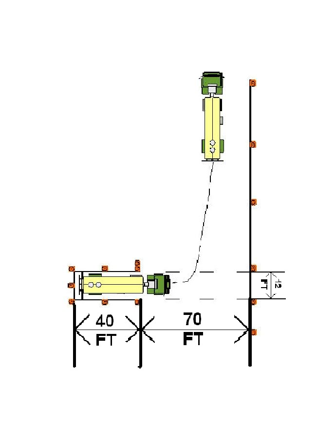 Cdl Skills Test Cone Layout